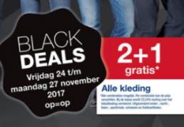 Makro Black Deals op alle kleding 2+1 gratis