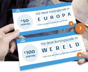 €50 korting op bestemmingen binnen europa