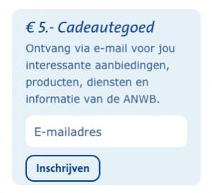 Kortingscode ANWB voor €5 korting op je bestelling