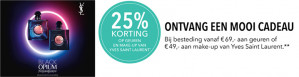 -25% op parfum en make up van Yves Saint Laurent