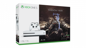 Microsoft Xbox One S Shadow of War Bundle 500GB Wi-Fi Wit voor €169,99