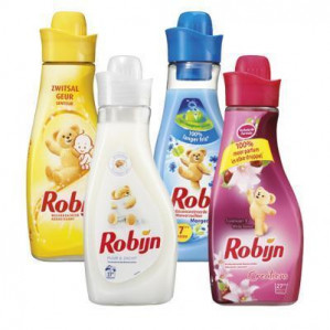 Robijn wasverzachter 4 flessen voor €4,99