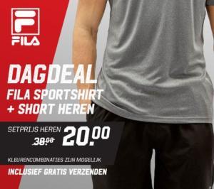 Fila sportset voor €22,80 en gratis verzending