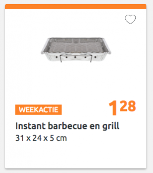 Wergwerp BBQ voor €1,28