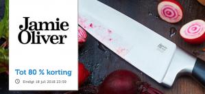 Tot 80% korting op Jamie Oliver messen