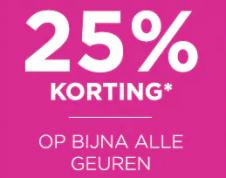 IciParisxl sale met 25% korting op dames of herengeuren