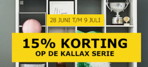 Ikea KALLAX serie 15% korting