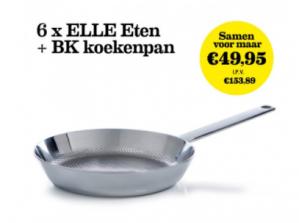 6 maanden ELLE Eten + 1 BK Conical Deluxe koekenpan voor €49,95