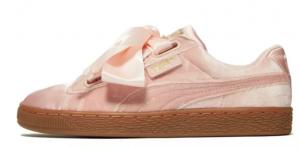 Puma Basket Heart Velvet dames sneakers roze voor €40