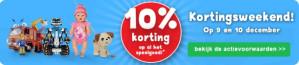 Op alle speelgoed 10% korting bij Bartsmit