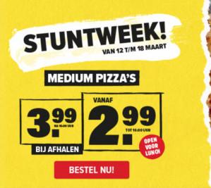 Stuntweek bij Domino's met pizza's voor slechts €2,99