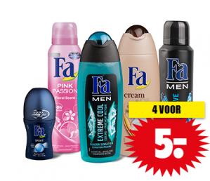 Fa deodorant of douchegel 4 voor €5