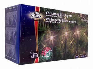 Kerstverlichting 160 LED´s warmwit voor €3,75