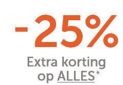 25% korting op de outlet