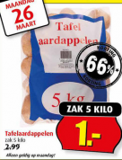 5 KG Aardappelen voor €1