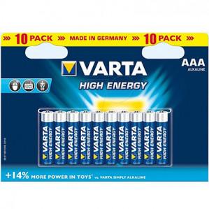10 Batterijen Varta High Energy Alkaline Aaa voor €5,32