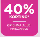 Diverse mascara's tot 40% korting