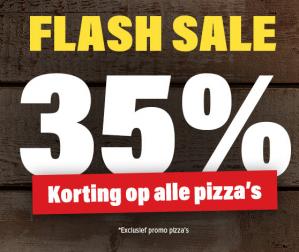 Code voor 35% korting op alle pizza's
