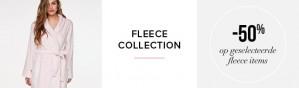-50% korting op alle Fleece producten