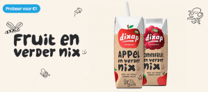 Probeer Dixap Kant & Klaar van €1,99 voor €1 dmv cashback ( alleen bij Jumbo supermarkten )