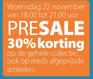 Pre sale bij Ter stal 30% korting