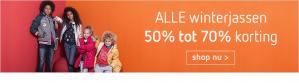 Tot 70% korting + 20% extra op alle winterjassen dmv code