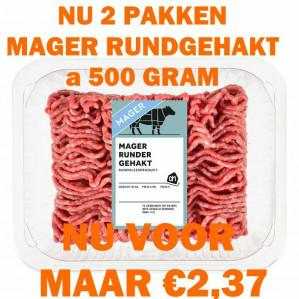 Mager rundergehakt 1 kg voor €2,37