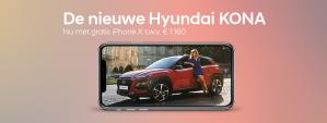 Bij aanschaf Hyundai Kona voor €22.295 een iPhone X Gratis