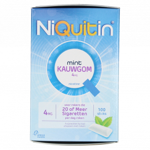 Niquitin Kauwgom Mint 4Mg 100st voor €2,95