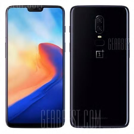 OnePlus 6 4G Phablet 64GB ROM International Version MIRROR BLACK  voor  € 438  d.m.v. code