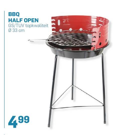 Barbecue voor €4,99