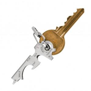 8-in-1 Multifunctionele rvs sleutelhanger met flesopener voor €0,50 dmv code