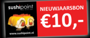 Kortingsbon voor €10 korting bij Sushipoint