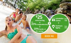€88 voordeel + maximaal 40% korting bij een CenterParcs boeking