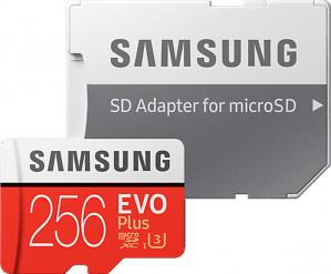 Samsung Evo plus Micro SD 256GB - met adapter voor €52,50