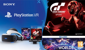 Sony PlayStation VR - PS Camera - VR Worlds - Gran Turismo Sport voor €299 (alleen in België )