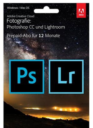 Adobe Creative Cloud Foto Lightroom + Photoshop CC 20GB voor €94,99