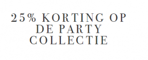 Didi sale met 25% korting op Xmas- en partycollectie