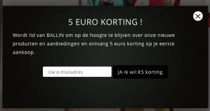 5 euro korting op je eerste bestelling