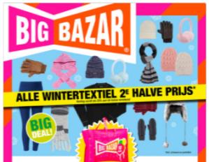 Big Bazar sale alle wintertextiel 2de halve prijs