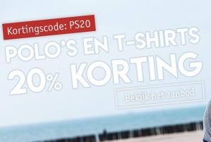 20% korting op je shirts