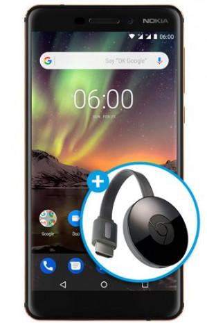 Nokia 6.1 incl. gratis Google Chromecast voor €279