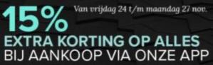 Black Friday bij Kijkshop  met 15% korting via de app