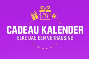 McDonalds Cadeau kalender 2017 het overzicht met alle acties
