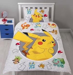 Pokémon Catch - Dekbedovertrek - Eenpersoons - 140 x 200 cm - Multi voor €19,96
