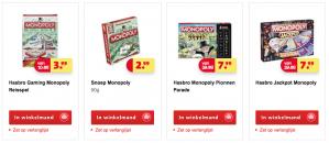 Verschillende Monopoly spellen voor €7,99
