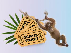 4 Dierentuintickets ( oa Blijdorp, Artis, Apenheul etc ) voor 1 maand meespelen bankgiroloterij €13,50