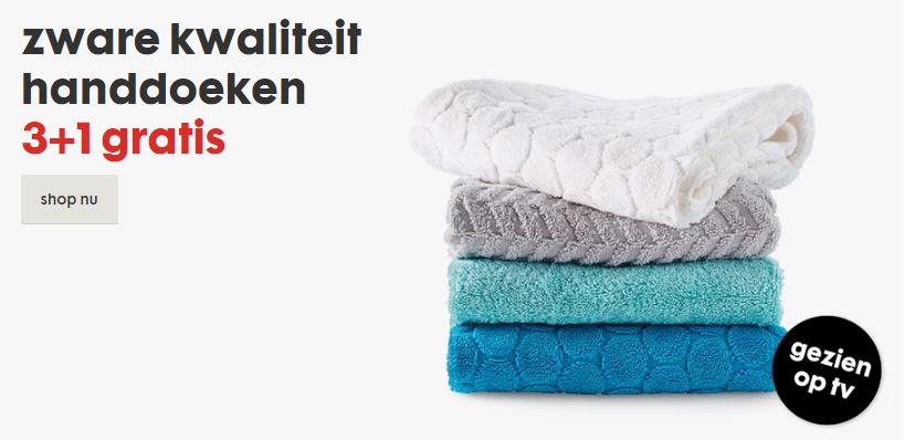 Zware kwaliteit handdoeken 3 + 1 Gratis