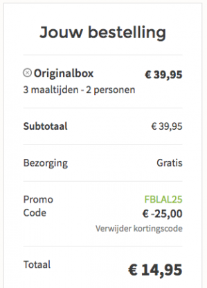 25 euro korting op je bestelling bij Hellofresh