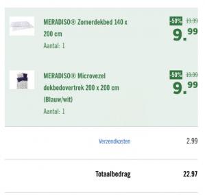 50% korting op dekbedden, dekbedden vanaf €6,99